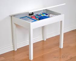 how to make a child s desk build an easy diy kids table with storage kid table desks and storage