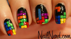 nail nerd nail art for nerds tetris nails