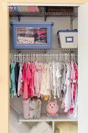 nursery progress closet organization the golden sycamore