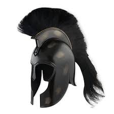amazon com trojan helmet achilles steel with black crest