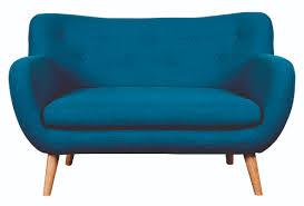 2 er sofa noa 2er sofa leinen polyester gewebe türkis füße buche natur
