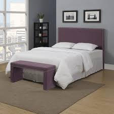 sweet gray and purple bedrooms in an interesting style of