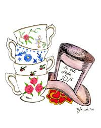 mad hatter tea party clipart 23