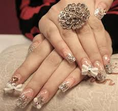 nice 3d nail art bows and flowers for girls nationtrendz com