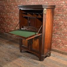 antique french escritoire mahogany abattant 19th century secretary