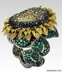 sunflower engagement ring sunflower ring by jewelry designer alex soldier jewelrista