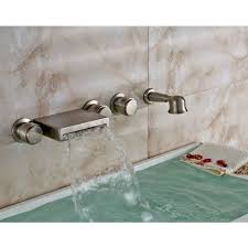 bathtub faucet wall mount wall mount bathtub faucet with handheld shower brushed nickel finish