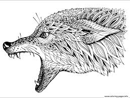 print wolf zen coloring pages colowing wolf