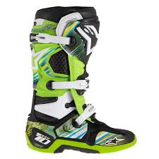 buy motocross boots new alpinestars tech 10 yellow green motocross boots graphics