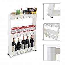 étagère à roulettes cuisine étagère sur roulettes pour cuisine ou salle de bain chariot meuble