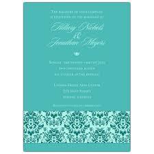 teal wedding invitations band of damask blue on teal wedding invitations paperstyle
