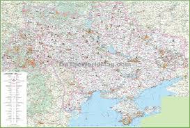 Map Ukraine Ukraine Tourist Map