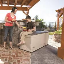 lifetime plastic storage bench u0026 reviews wayfair