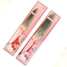 Pink Kitchen Knives Hello Kitty Stainless Steel Chef Knife Kitchen Ware Ribbon