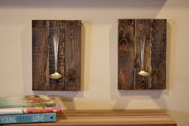 Wooden Wall Sconce Scrap Wood And Spoon Diy Wall Sconces Reinvented