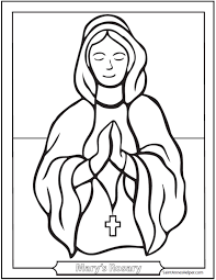 children s rosary 40 rosary coloring pages the mysteries of the rosary