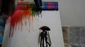diy do it yourself crayon art painting youtube