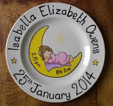 personalized baby birth plates personalised baby birth plate birth announcement plates