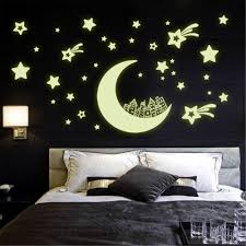 compare prices on space decorations online shopping buy low price romantic night fluorescent stars glow in the dark home decor luminous space moon star diy wall