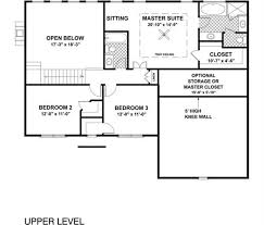 Colonial Floor Plans Colonial House Plan 4 Bedrms 3 Baths 2097 Sq Ft 109 1057