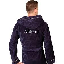 robe de chambre homme personnalisé peignoir homme personnalisé thalasso bleu marine