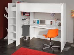 lit mezzanine bureau blanc lit mezzanine bartholome 90x200cm rangements bureau blanc