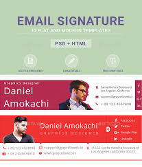 professional email signature templates u0026 html graycells graphic
