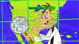 Danville Ohio Map by Almost Unschoolers Phineas And Ferb Geography Finding Danville