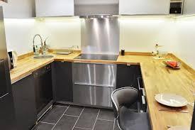 renovation cuisine chene rénovation de cuisine en u avec plans de travail en chêne massif