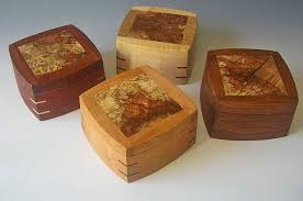 small wood boxes or decorative keepsake boxes