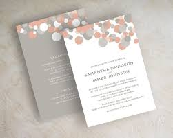 coral wedding invitations templates coral and gray chevron wedding invitations also navy