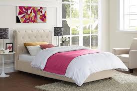 amazon com dhp carmela linen tufted upholstered platform twin