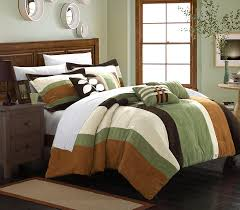 amazon com chic home 7 piece highland plush micro suede striped