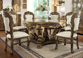 Traditional Dining Room Furniture Homey Design Hd 8008 7 Pieces Renaissance Style Dining Table Set