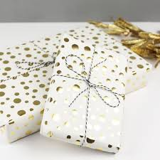gold gift wrap metallic gold confetti wrapping paper gift wrap angel