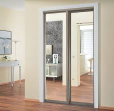 Bipass Closet Doors by Sliding Closet Doors With Mirror Alumcomplete Sliding Doors