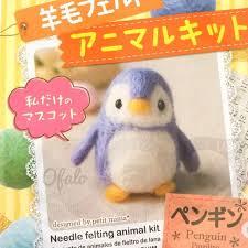 felt kits set 7pcs daiso japan needle felting animal kit wool felt handcraft