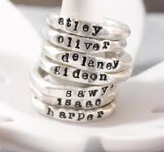 silver name rings handmade organic silver stacking rings tag you re it