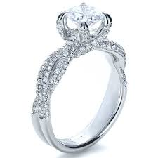twisted shank engagement ring micro pave twisted shank engagement ring vanna k 1262