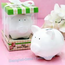 piggy bank favors baby birthday party piggy bank baby shower favor gift tc018