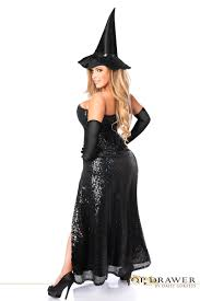 costume of witch sequin witch corset halloween costume