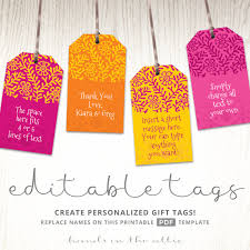 wedding gift tags printable indian wedding gift tags bright pink orange yellow