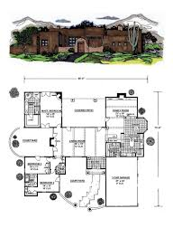 desert house plans santa fe house plan 54644 total living area 3061 sq ft 3