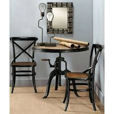 metal wood round table round industrial side table round