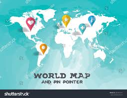 Pin World Map by World Map Pin Pointer Illustration Vector Stock Vector 307297214