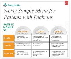 menu for diabetic sle menu for patients with diabetes sutter health