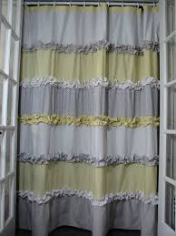 alluring yellow and grey curtains and yellow and grey shower