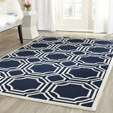 Navy Blue Area Rug 8x10 Navy Blue And White Area Rugs Surya Rhodes Luna Navy Offwhite