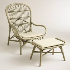 gray rattan wingback chair and ottoman papasan chair natural a modern refresh on the classic papasan chair our bamboo wingback features a spacious seat