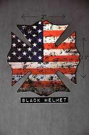 Usa Flag History American Flag Old Glory Maltese Cross Helmet Decal Black